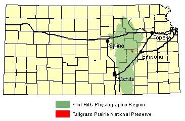 Flint Hills Kansas Map Under the Surface   Tallgrass Prairie National Preserve (U.S.