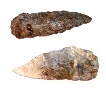 arrowheads made of flint