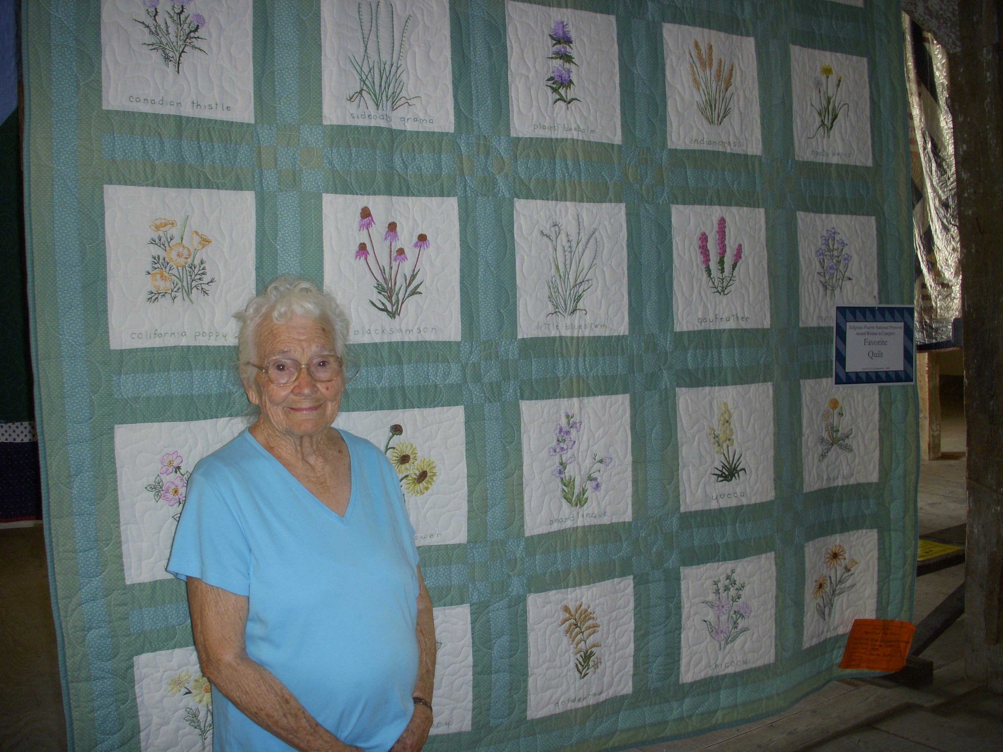 Winner of the Favorite Quilt at the 2008 Quilt Display at the Preserve