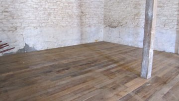 barn flooring rehab