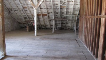 Top floor of the barn