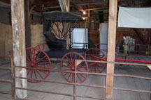 buggy in barn