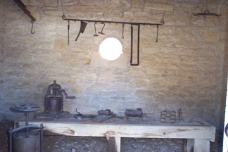 inside the curing house