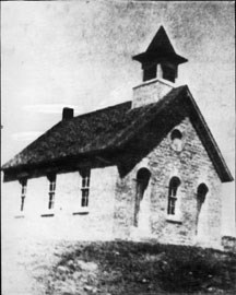 historic photo of Lower Fox Creek School