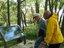 viewing the waysides at the Bottomland Trail