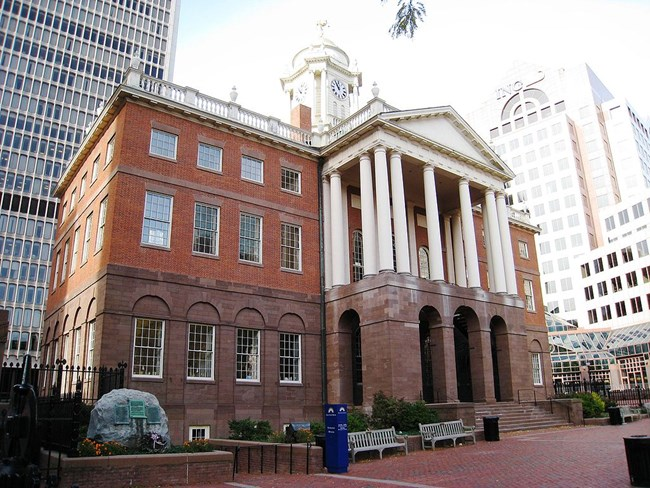 photo of the old statehouse in hartford ct