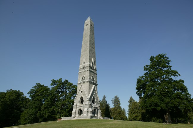 Image of the Monument, a 155' tall obelisk