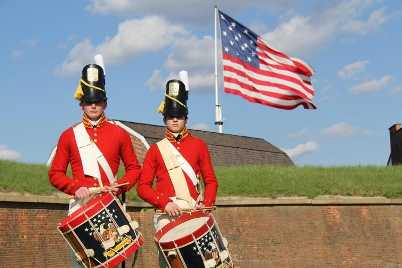 Fort McHenry Guard Drummers and Flag