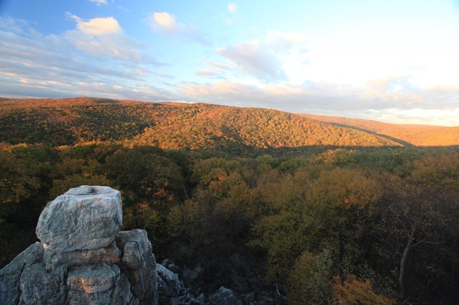 Fall Foliage at Chimney Rock.