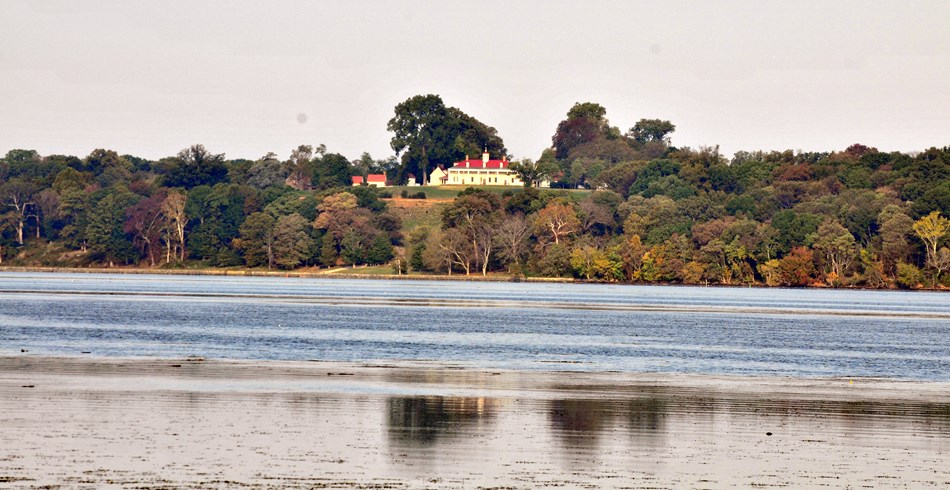 View of Mount Vernon across the Potomac from Piscataway Park in Maryland.