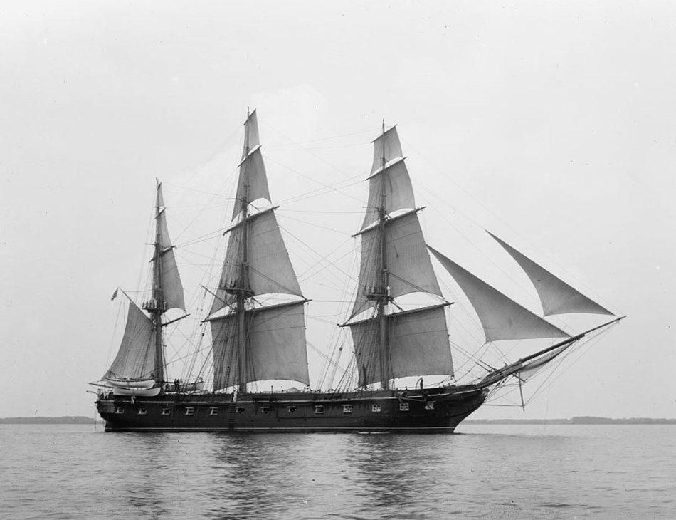 USS Constellation on the water