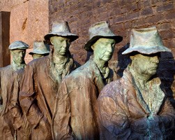 George Segal's Breadline sculpture
