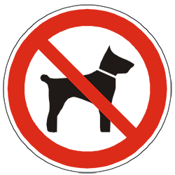 No dogs and no pets symbol.