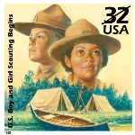 A 1998 postage stamp honoring scouting.