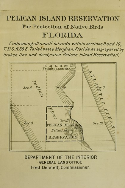 An early map of the Pelican Island Reservation.