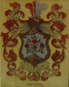 The Roosevelt family coat of arms.