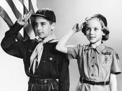 Boy Scout and Girl Scout, circa 1960's