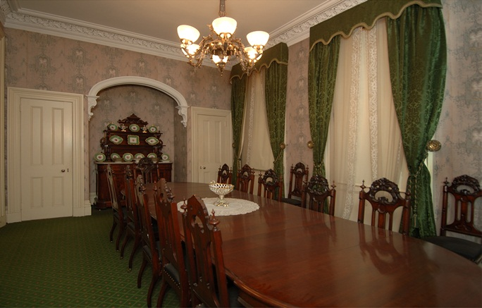 The dining room at Theodore Roosevelt Birthplace.