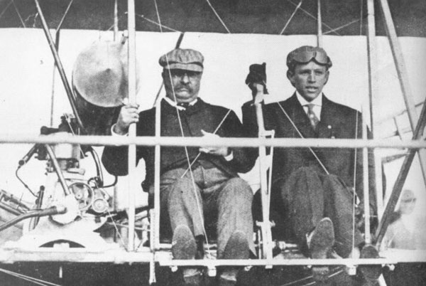 T.R. was the first U.S. president to fly in an airplane.
