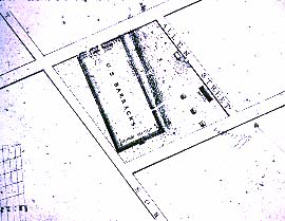 Map of the Buffalo Barracks
