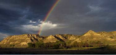 Theodore Roosevelt National Park after a rain