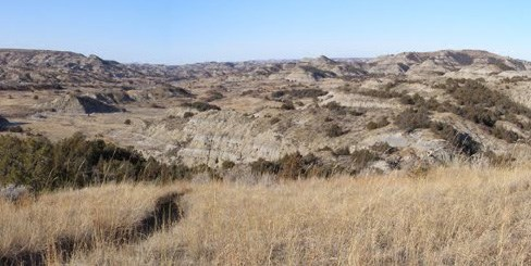 Badlands viewed from the East.