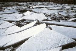 Ice on Little Missouri River