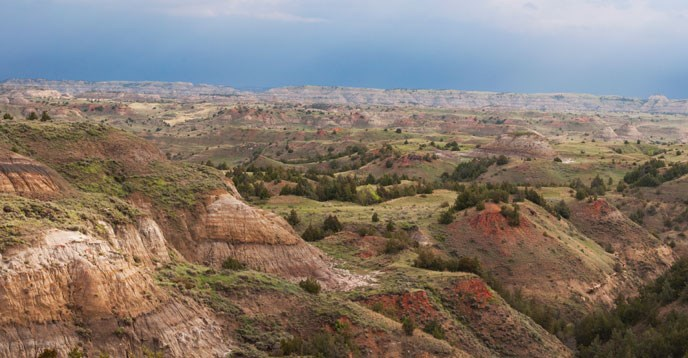 Scenic photo of the Badlands