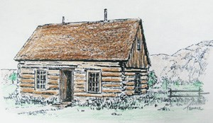 Maltese Cross Cabin Coloring Page