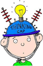 Cartoon kid with thinking cap