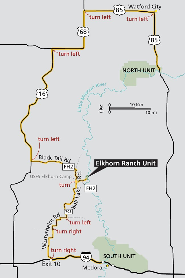 Elkhorn Ranch Unit - Theodore Roosevelt National Park (U.S. ... on north dakota rd map, weather forecast fargo north dakota, harvey north dakota map, nd road map, fargo north dakota map, north dakota official highway map, nddot road map,