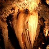 The Great Heart of Timpanogos cave stalactite