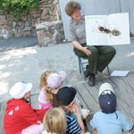 Ranger Roberta leads a Junior Ranger program on ants.