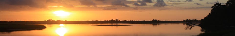 Sunrise over the Fort George River in the Timucuan Preserve.