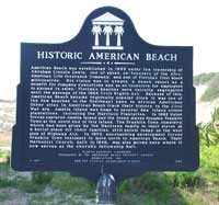 Historical marker at American Beach