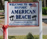 Welcome sign to American Beach