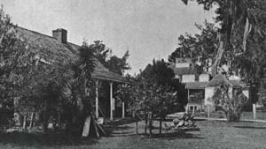 Late 19th century view of the plantation buildings.