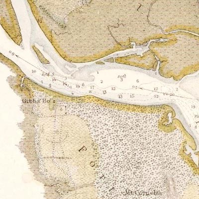 map of Fort George Island from 1853