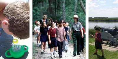 Educational activites at the National Parks of the First Coast and Golden Isles