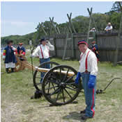 Firing the Civil War cannon at Fort Caroline