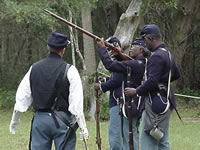 54th Massachusetts reenactment at Kingsley Plantation