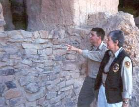 Two Tonto National Monument Volunteers.