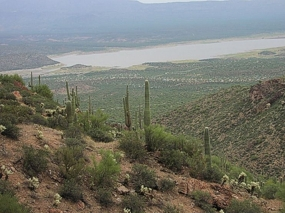 Roosevelt Lake from the Lower Cliff Dwelling