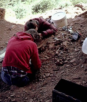 Lower Cliff Dwelling excavation
