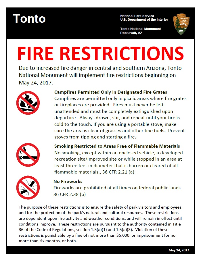 Fire Restrictions poster