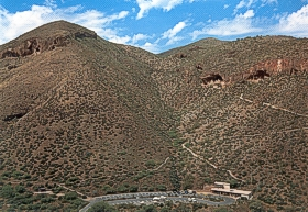 aerial view of Tonto National Monument