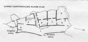 Lower Cliff Dwelling map