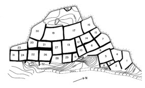 Upper Cliff Dwelling map