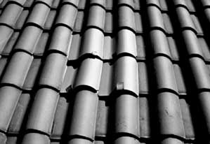 Pantile Roof With Several Replacement Tiles