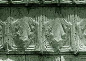 Tin Shingles Embossed With Decorative Design.